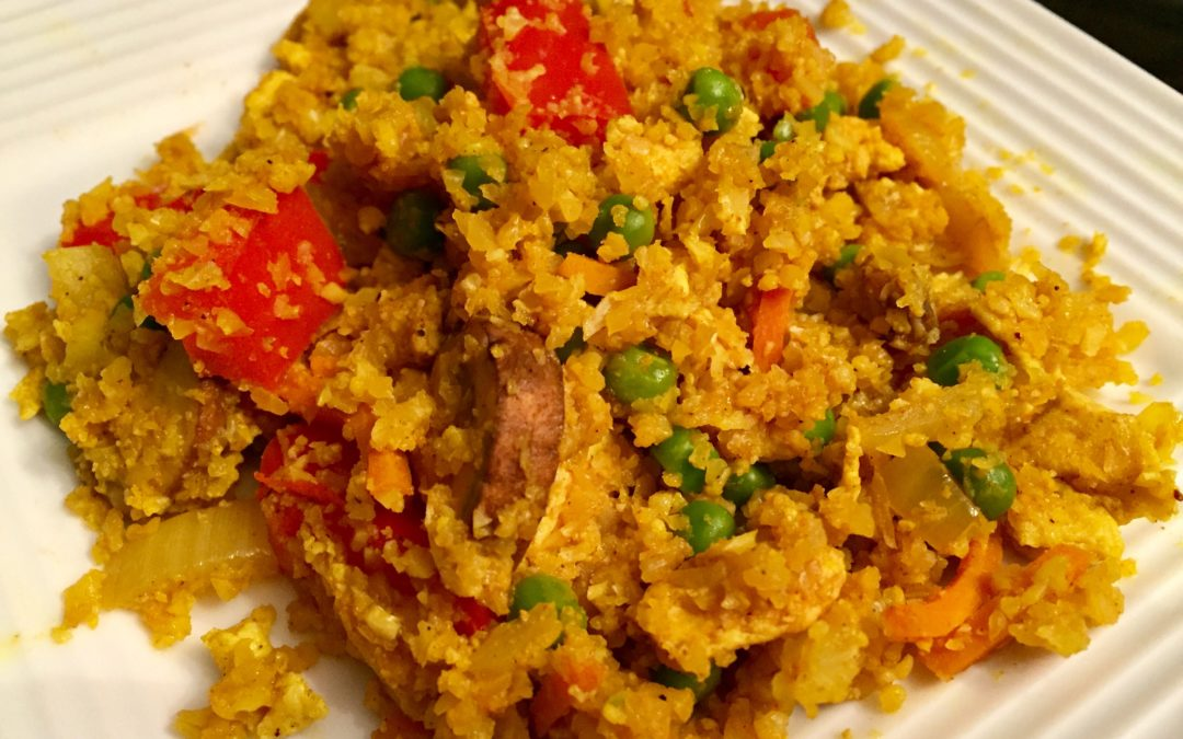 Turmeric Fried Cauliflower Rice