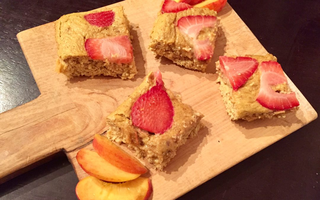 Oatmeal Peach Protein Bars