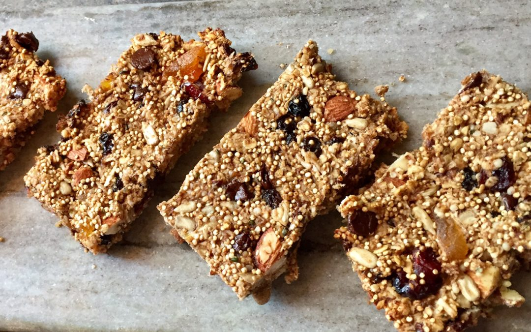 Loaded Quinoa Fruit and Nut Bars