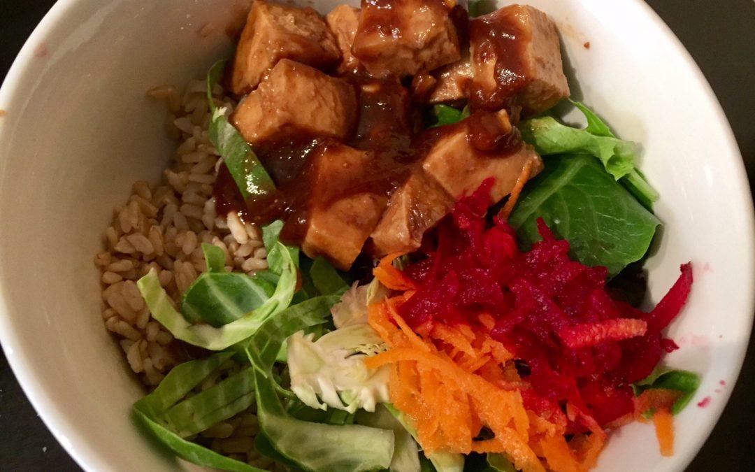 Peanut Thai Tofu Bowls